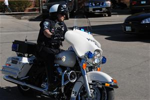 Officer Riding Motorcycle