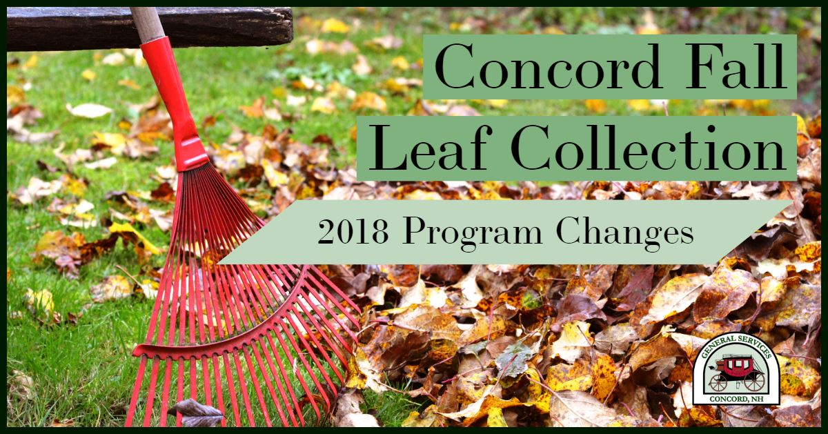 2018 Fall Leaf Collection Program Changes