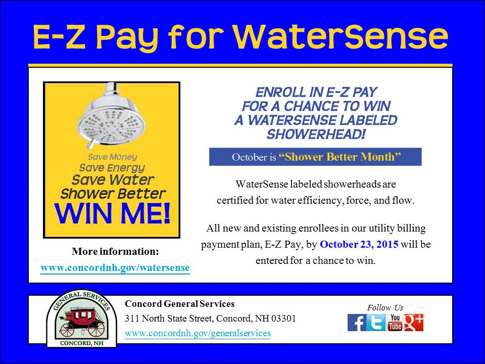 Concord General Services E-Z Pay For WaterSense Contest